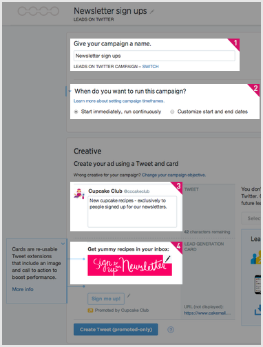 CakeMail Twitter - Card Personnalization